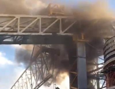 Obras del Bernabéu sufren incendio