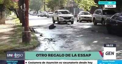 La Nación / Essap no repara caños rotos en Asunción a pesar de constantes denuncias