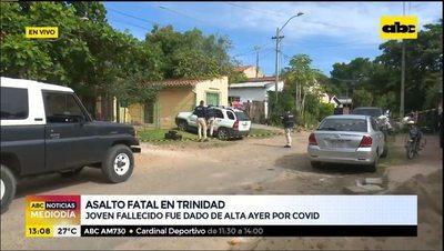 Asalto fatal: ayer fue dado de alta por covid y hoy motochorros lo asesinaron