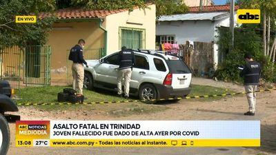 Roban y asesinan a joven que fue dado de alta ayer por COVID