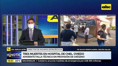 """""""Falla técnica"""" en provisión de oxigeno habría producido muertes en Hospital de Coronel Oviedo"""