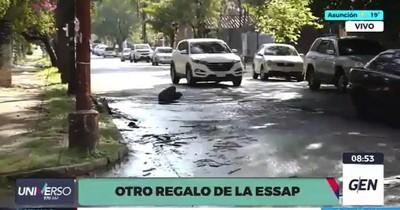 La Nación / Essap no repara caños rotos de calles asuncenas