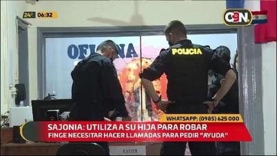 Sajonia: Mujer utiliza a su hija para robar celulares