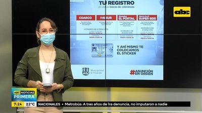 Recuerdan que se deben revalidar los registros de conducir en Asunción antes del 31 de mayo