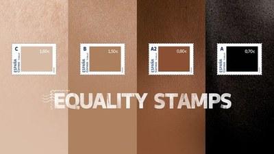 NO LES SALE UNA: España lanzó sellos con tonos de piel para luchar contra el racismo… el más blanco es el más valioso
