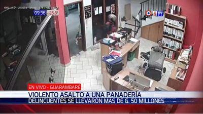 Roban millonario monto de una panadería en Guarambaré
