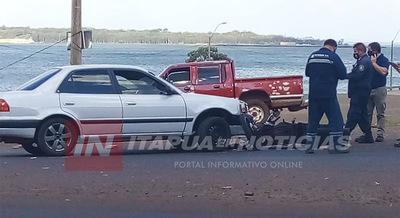 ACCIDENTE DE TRÁNSITO SOBRE RUTA N° 1 DEJA MOTOCICLISTA LESIONADO.