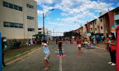 Celebran el Día Internacional del Juego en el barrio San Francisco de Zeballos Cué