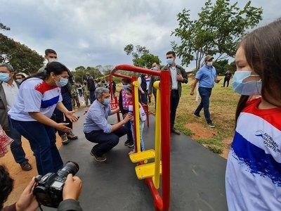 Habilitan plazas deportivas en Canindeyú