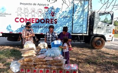 MDS entrega alimentos a organizaciones de Coronel Oviedo y Santa Rosa del Mbutuy