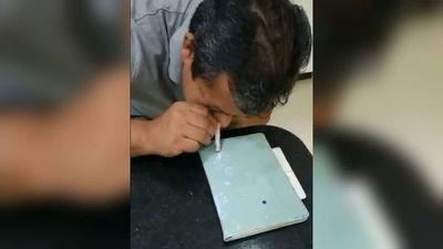 """Video de papá de intendente """"inhalando"""" armó revuelo en las redes sociales"""