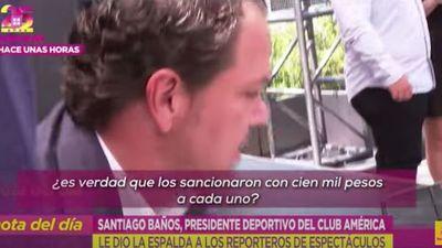 Directivo del América huye de la prensa al ser abordado por escándalo de jugadores