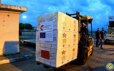 Llega cooperación de España con 11.500 ampollas de Midazolam y 500 dosis de Atracurio •