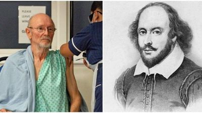 Presentadora argentina confunde primer británico vacunado contra el Covid con William Shakespeare