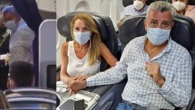 Pasajeros de un avión escrachan a Juan Ernesto Villamayor