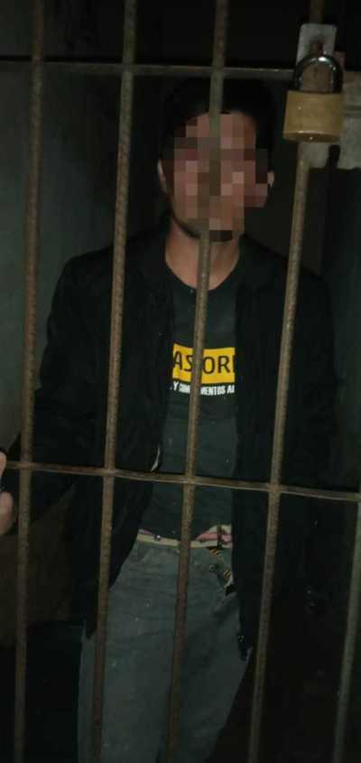 Ebrio fue preso por agredir a su esposa