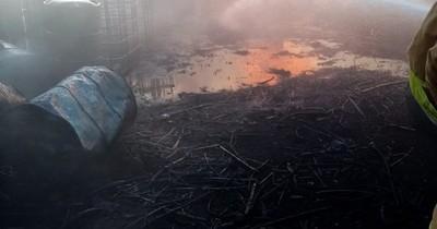 La Nación / Bomberos controlan incendio en predio de Acepar en Villa Hayes