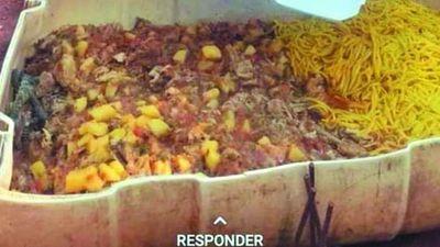 Reparten comida desde recipiente de animales en Hernandarias