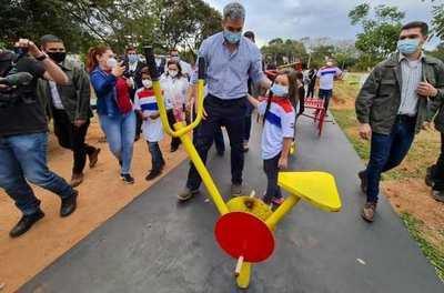 Una buena noticia: Inauguran 7 plazas deportivas en Canindeyú