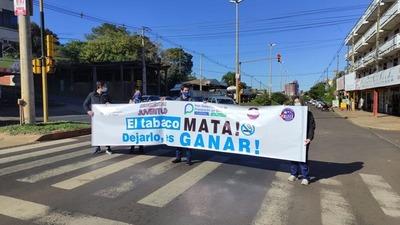 ACCIÓN CONTRA EL TABAQUISMO EN ENCARNACIÓN.