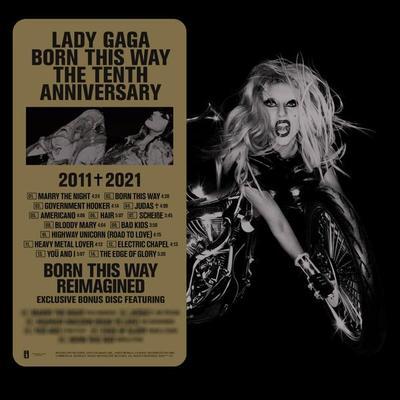 """Lady Gaga reedita """"Born This Way"""" para celebrar los 10 años del disco"""