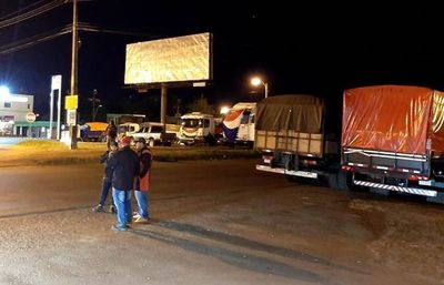 Camioneros reinician paro en Alto Paraná