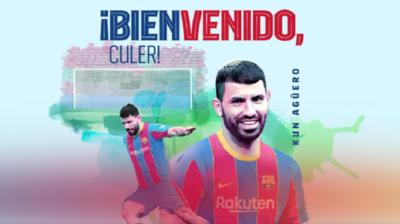 Barcelona oficializa a Sergio Agüero