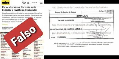MUNICIPIOS ITAPUENSES DESMIENTEN PUBLICACIÓN DE MEDIO CAPITALINO