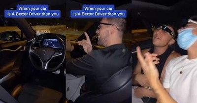 """La Nación / """"Los idiotas siempre seguirán siendo idiotas"""": Tesla sin conductor vs. ebrios"""