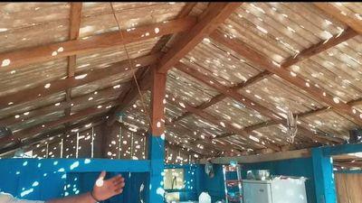 Fuerte granizada  daña viviendas y cultivos en Curuguaty