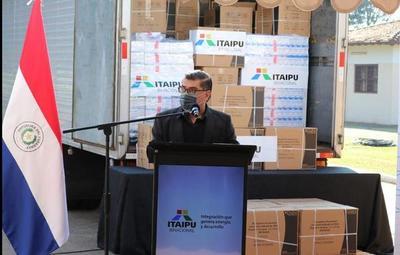 Salud recibe importante donación de Itaipú, para seguir luchando contra la pandemia