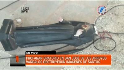 Destrozan santuario en San José de los Arroyos