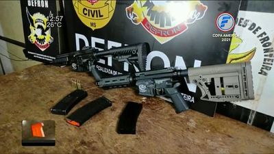 Detienen a paraguayo con dos fusiles en Ponta Porã