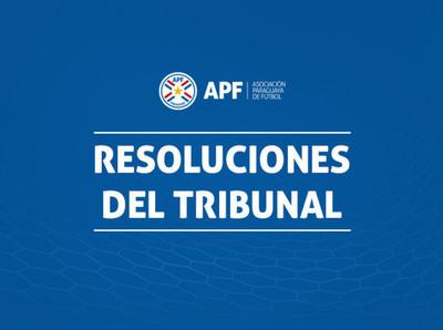 Resoluciones de Tribunal luego de la fecha 18 del Apertura