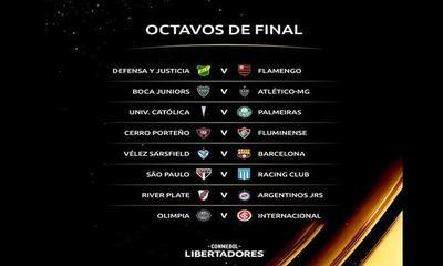 Se sortearon los octavos de final de la Copa Libertadores – Prensa 5