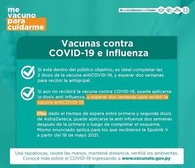 Vacunas COVID-19 e Influenza: conozca el procedimiento de aplicación
