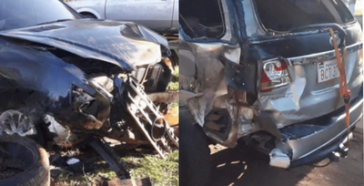 Dos heridos en accidente de tránsito en Coronel Oviedo