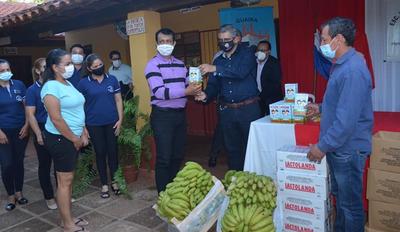 En Guairá realizan el lanzamiento de entrega de kits de merienda escolar