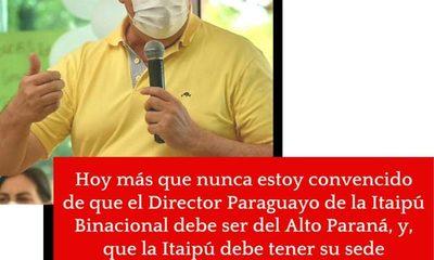 Gobernador ratifica que la sede central de Itaipú, debe estar en Hernandarias – Diario TNPRESS