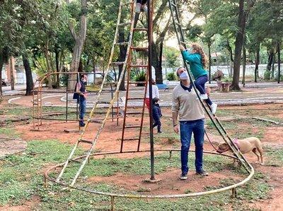 Avanza la recuperación del Parque Caballero