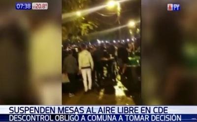 CDE: Suspenden habilitación de calzadas a gastronómicos tras incidentes