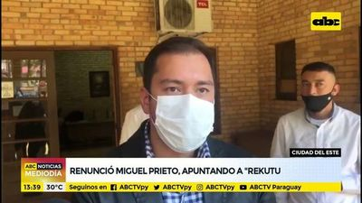 """Renunció Miguel Prieto apuntando al """"rekutu"""""""