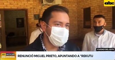 Miguel Prieto renuncia para buscar la reelección en CDE