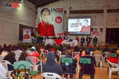Adherentes de Unidos Podemos avalan proyectos de Núñez