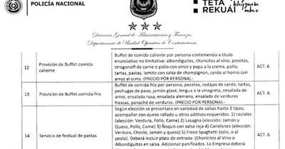 La Nación / Mientras ciudadanía sufre inseguridad, en la Policía se ocupan de finos buffets
