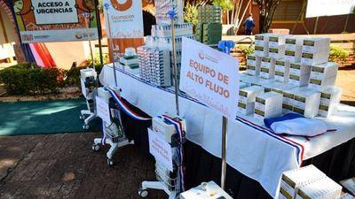 Encarnación recibe equipos para el sistema sanitario