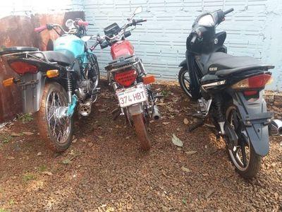 Un detenido e incautación de motocicletas durante controles