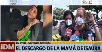 """""""Yo estoy segura que la mataron"""", sostiene madre de Isaura Bogado"""