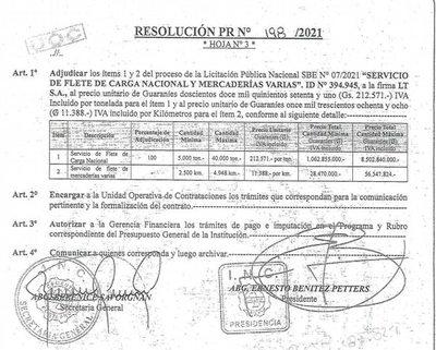 INC contrata flete terrestre a precio inflado, denuncian