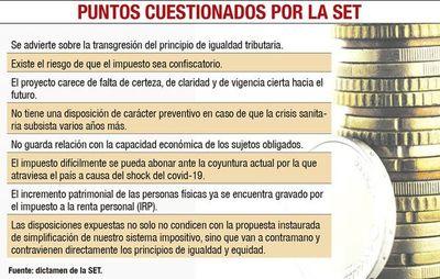 SET advierte sobre creación de un  impuesto confiscatorio